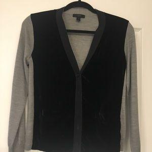 Jcrew Harlow velvet front sweater size small